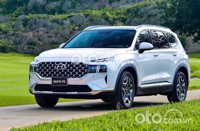 Cần bán xe Hyundai Santa Fe đời 2021, màu trắng - Bảo hành từ 3 năm0