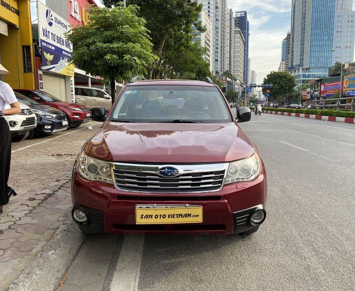 Cần bán gấp Subaru Forester đời 2010, màu đỏ, nhập khẩu 0