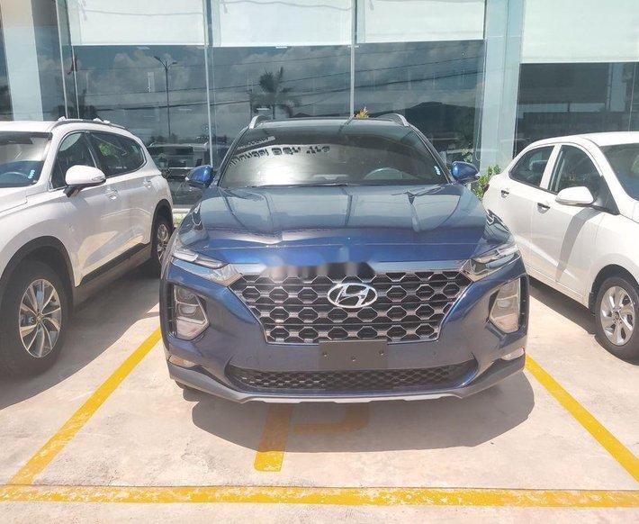 Bán Hyundai Santa Fe năm 2021, màu xanh lam0