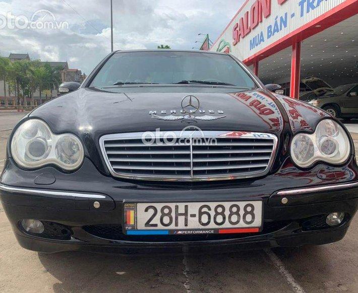 Xe Mercedes C180 2003, màu đen số tự động0