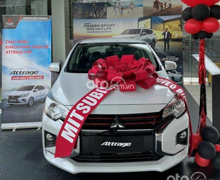 [Duy nhất tháng 7] Mitsubishi Attrage Premium 2021 nhập Thái giảm 50% thuế trước bạ, gói vay 80-85%, lx 7%/ năm0