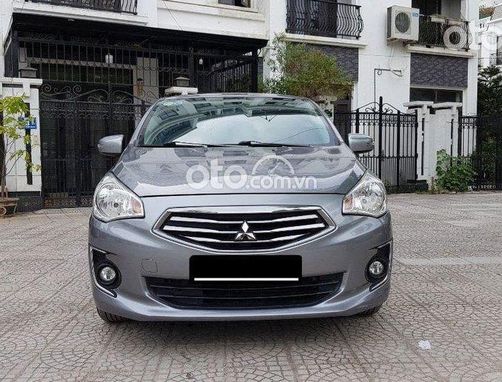 Cần bán gấp Mitsubishi Attrage AT 2017, màu xám giá cạnh tranh0
