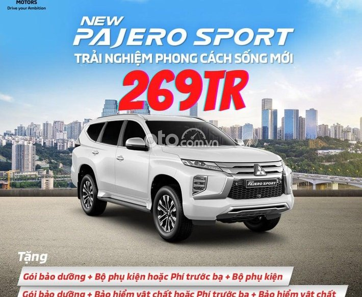 Cần bán Mitsubishi Pajero Sport 4x2 AT sản xuất 2021, màu trắng0