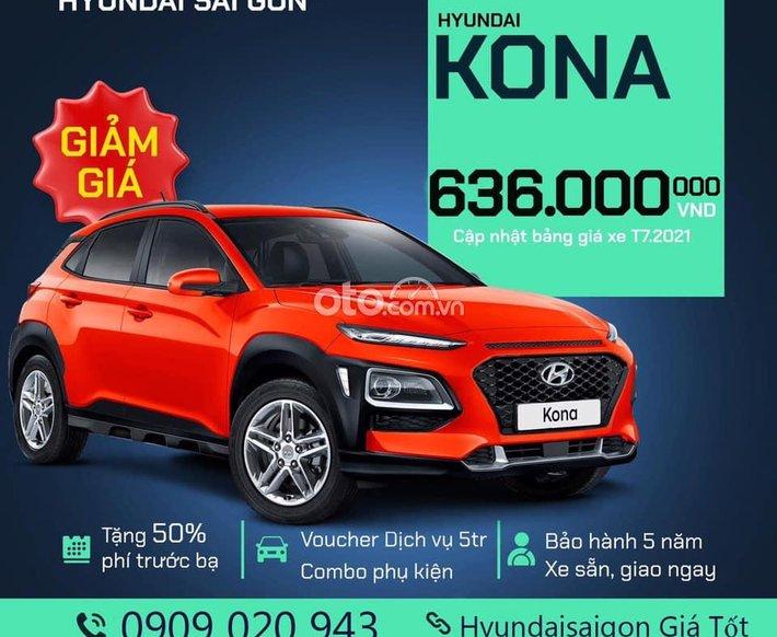 Bán Hyundai Kona đời 2021, màu đỏ0
