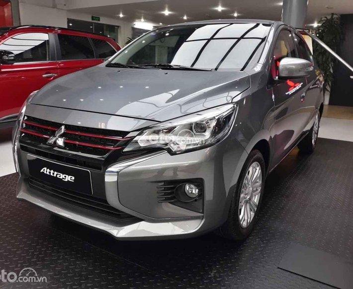 Bán Mitsubishi Attrage CVT đời 2021, màu xám- Tặng trước bạ 23tr0