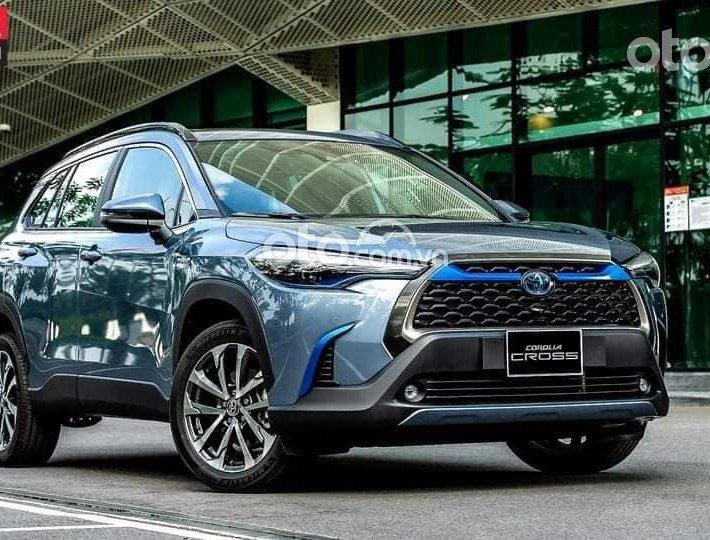 Bán xe Toyota Corolla Cross 1.8 HV năm 2021, màu xanh lam0