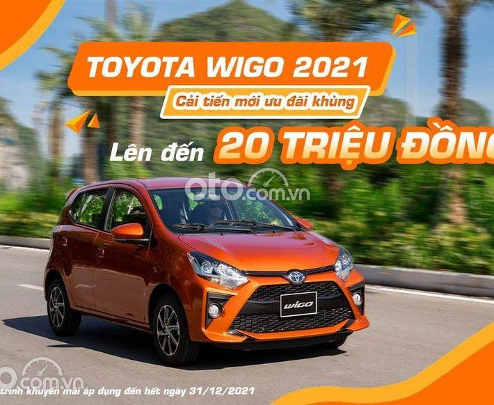 Bán Toyota Wigo 1.2 MT đời 2021, màu nâu cam0
