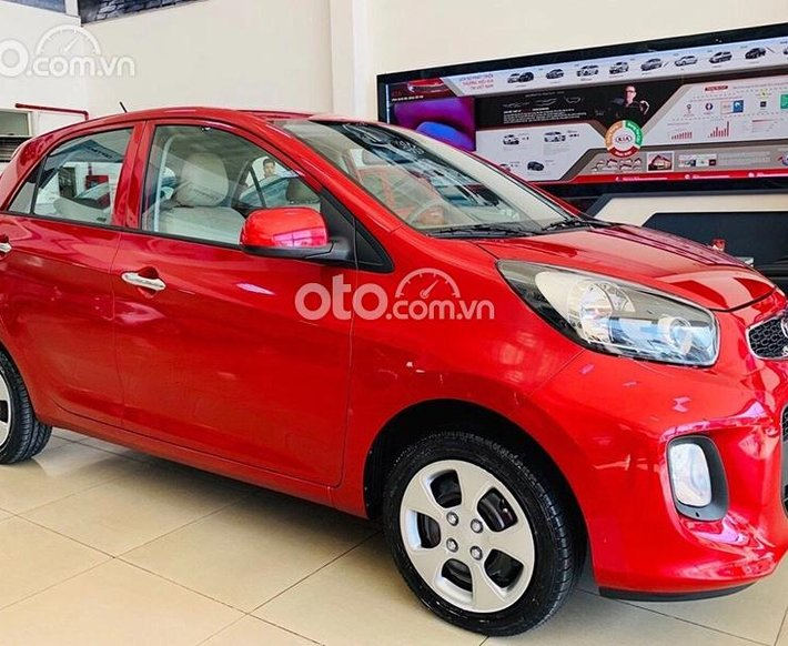 Bán ô tô Kia Morning 2021, màu đỏ, thích hợp cho gia đình0