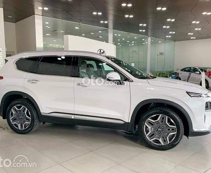Giảm trực tiếp tiền mặt, Hyundai Santa Fe sản xuất 2021, màu trắng0