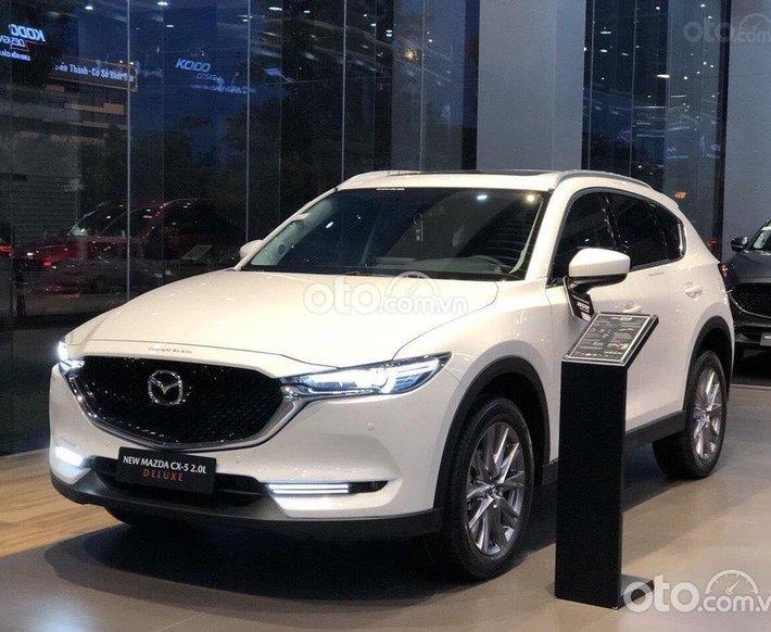 Bán ô tô Mazda CX 5 2.0 Deluxe đời 2021, màu trắng giá cạnh tranh0