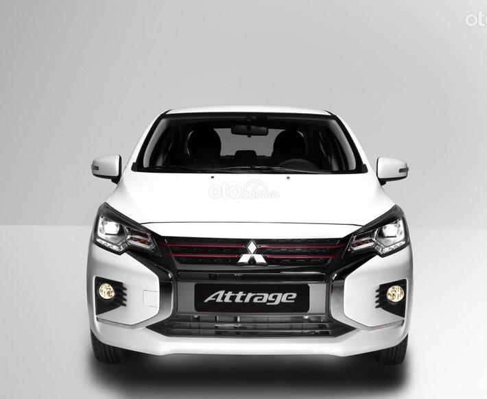 Bán xe Mitsubishi Attrage CVT năm sản xuất 2021, màu trắng, giá tốt0