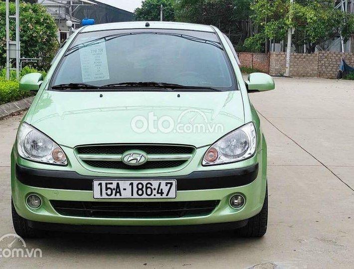 Bán Hyundai Getz 2009 số tự động, màu xanh, nhập Hàn0