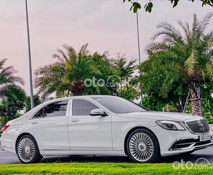 Bán Mercedes S400 độ lên Maybach S560 màu trắng0