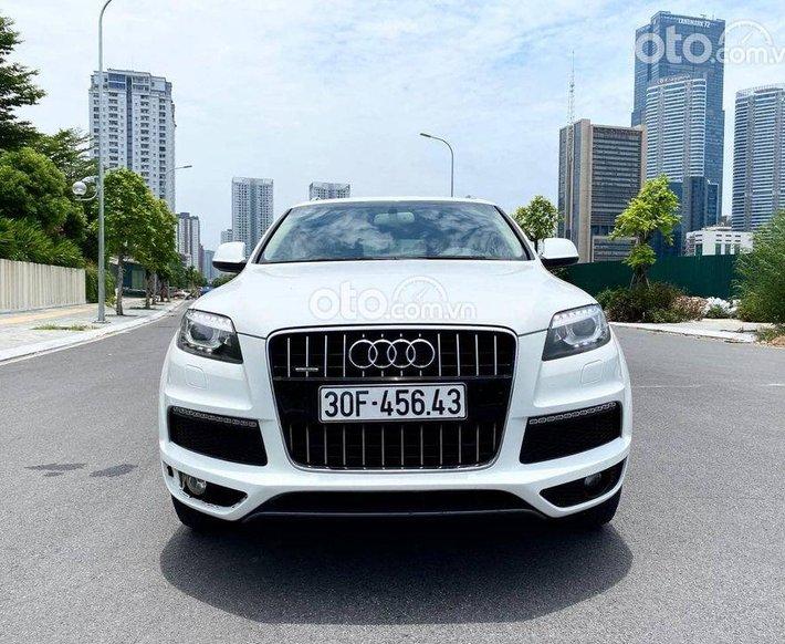 Bán Audi Q7 Quattro S-line 3.0T 2014, màu trắng0