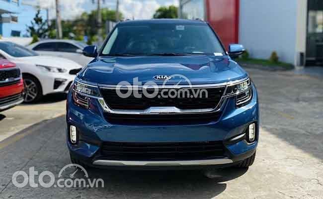 Bán Kia Seltos Premium 1.6 sản xuất 2021, màu xanh lam giá cạnh tranh0