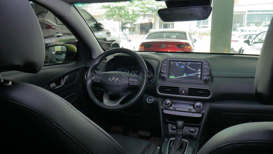 XE NGON GIÁ TỐT | Hyundai Kona 2019 1.6T màu xanh chuối độc đáo chờ chủ đón về giá chỉ 700 triệu. 6