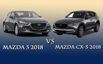 So sánh xe Mazda 3 2018 và Mazda CX-5 2018
