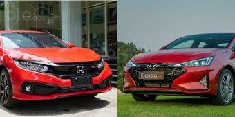So sánh Hyundai Elantra Sport 2019 và Honda Civic RS 2019: Cuộc chiến xe thể thao hạng C
