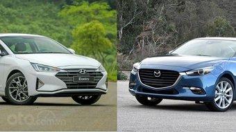 Chọn Mazda 3 2.0 2019 hay Hyundai Elantra 2.0 2019 trong tầm giá dưới 800 triệu đồng