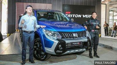 Mitsubishi Triton hé lộ bản nâng cấp, giá 600 triệu đồng.