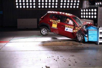Renault Kwid có túi khí chỉ đạt 1/5 sao GNCAP an toàn.