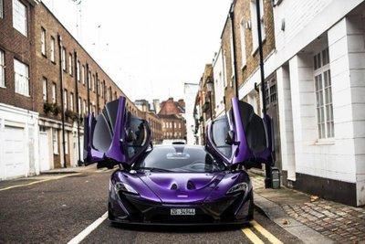 """Ngắm McLaren P1 độ tím, """"chất"""" lóa mắt trên phố Anh 2"""