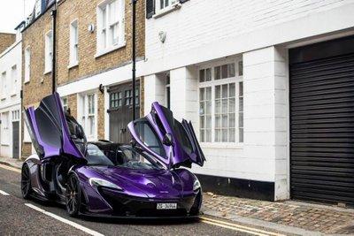 """Ngắm McLaren P1 độ tím, """"chất"""" lóa mắt trên phố Anh 5"""