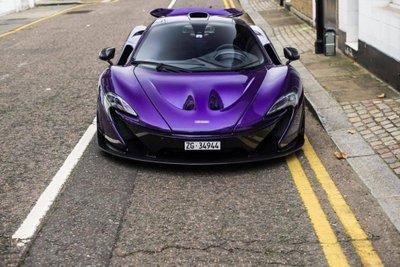 """Ngắm McLaren P1 độ tím, """"chất"""" lóa mắt trên phố Anh 7"""