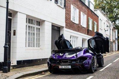 """Ngắm McLaren P1 độ tím, """"chất"""" lóa mắt trên phố Anh 4"""