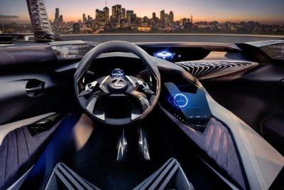 Thiết kế nội thất ba chiều của Lexus UX concept.