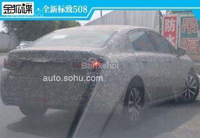 Peugeot 508 2018 lần đầu lộ ảnh chạy thử tại Trung Quốc.