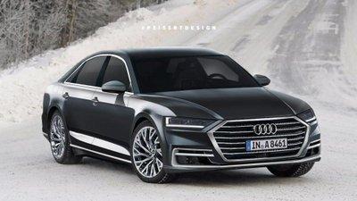 Audi A8 2018 sẽ ra mắt trong thời gian tới đây. Ảnh dựng đồ họa