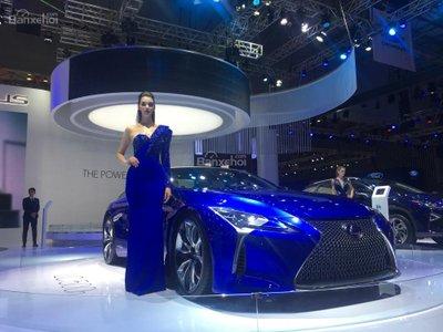 [VMS 2017] Chi tiết tuyệt phẩm xe xanh Lexus LC 500h mạnh 354 mã lực a2