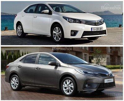 So sánh Toyota Corolla Altis cũ và mới 1
