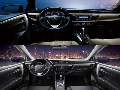 So sánh Toyota Corolla Altis cũ và mới 2