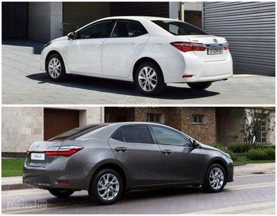 So sánh Toyota Corolla Altis cũ và mới 3