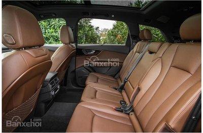 So sánh Audi Q5 và Audi Q7 2018 về hệ thống ghế ngồi.