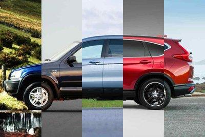 Lịch sử phát triển của Honda CR-V qua 5 thế hệ.