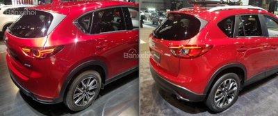 Đuôi xe Mazda CX-5 2018 mới và cũ có gì khác nhau