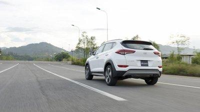 Đuôi xe Hyundai Tucson mới nhất tại Việt Nam...