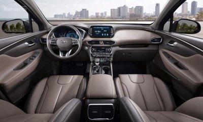 Khoang nội thất hoàn toàn mới của Hyundai Santa Fe 2019 .