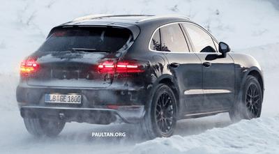 Porsche Macan 2019 bị tóm gọn khi đang thử nghiệm trong điều kiện lạnh giá a2