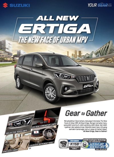 Chi tiết Suzuki Ertiga 2018 thế hệ mới trước giờ ra mắt triển lãm Indonesia..