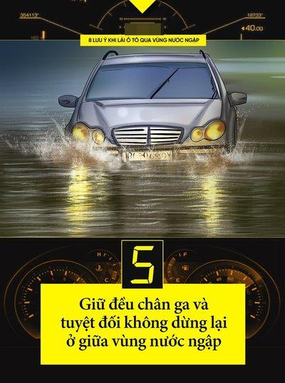 Một số kinh nghiệm lái xe khi đường ngập cần ghi nhớ 6