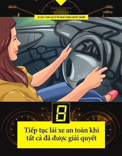Một số kinh nghiệm lái xe khi đường ngập cần ghi nhớ 9