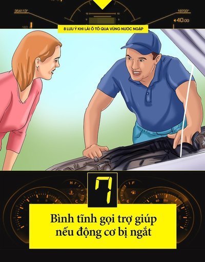 Một số kinh nghiệm lái xe khi đường ngập cần ghi nhớ 8