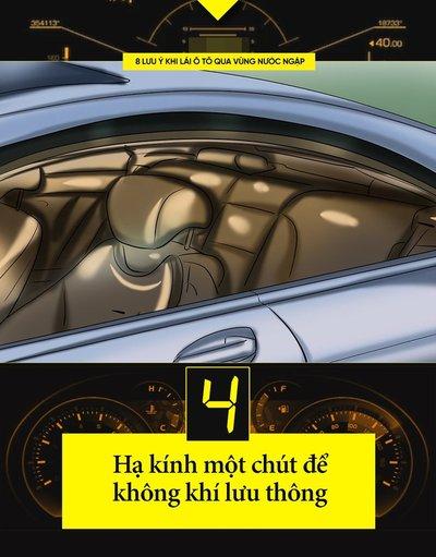 Một số kinh nghiệm lái xe khi đường ngập cần ghi nhớ 5