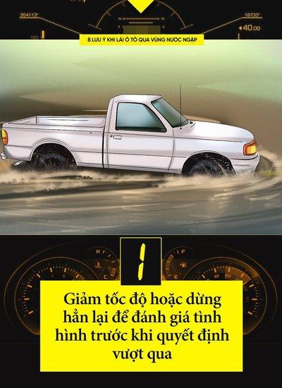 Một số kinh nghiệm lái xe khi đường ngập cần ghi nhớ 2