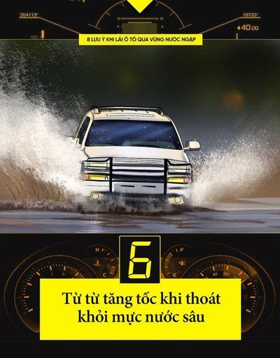 Một số kinh nghiệm lái xe khi đường ngập cần ghi nhớ 7