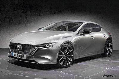 Ảnh phác họa Mazda 3 hatchback thế hệ mới.